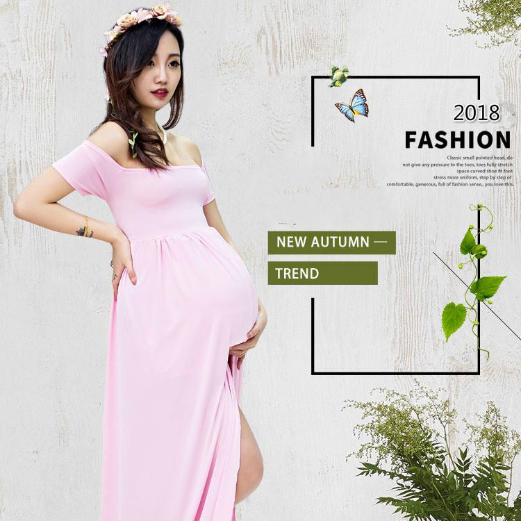6db74c2580ebd Maternity Dress 2018 fashion Pregnant women photo Mommy photography Cloth  Long Floor-Length Dresses Mothers Day