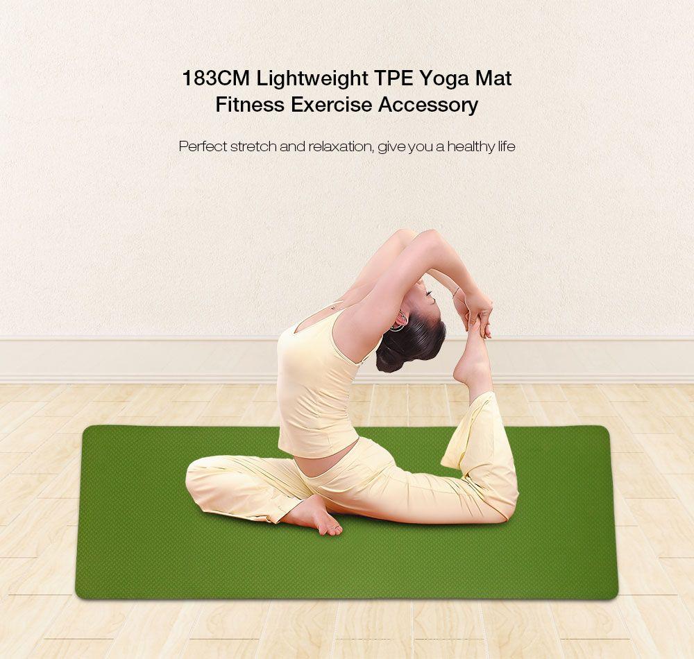 Acheter 6mm 183   61cm Tpe Tapis De Yoga D exercice Tapis De Yoga  Antidérapant Épais Pad Fitness Pilates Mat Fitness De Haute Qualité De   24.47 Du ... bc162b698da