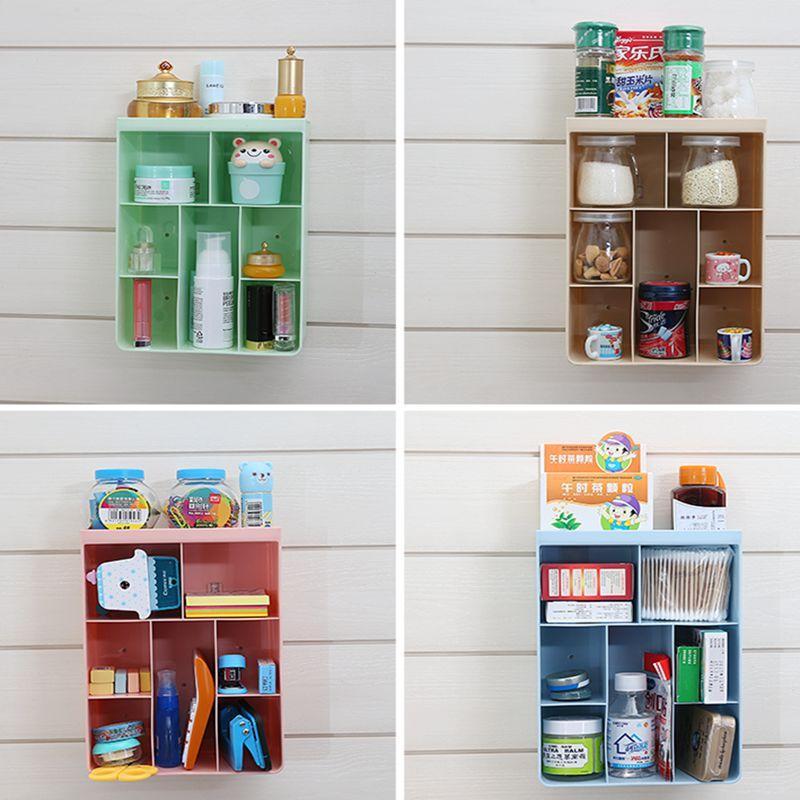 Creative Kitchen bathroom wall storage box Cosmetic storage rack shelf  Hanging Wall can be established Holder