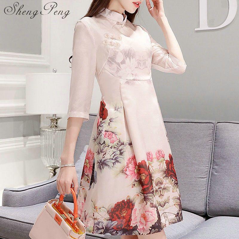 388d710bec1dc Acheter Chinois Traditionnel Robe Chinoise Orientale Qi Pao Robe Pour Femmes  Robes De Mode Chine Cheongsam Moderne CC045 De  97.93 Du Carawayo