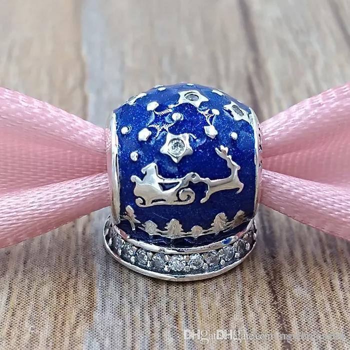 Notte Magica Pandora.Ciondoli Per La Notte Di Natale In Argento S925 Per Bracciale Stile Pandora 796386en63 H8