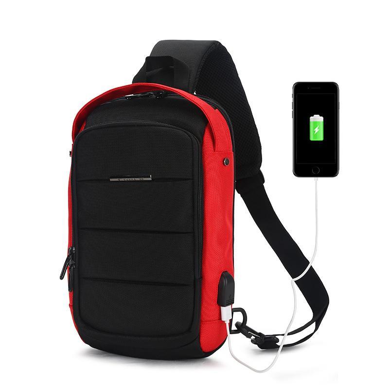 Multifunction Crossbody Bags Men USB Charging Chest Pack Short Trip  Messengers Chest Bag Water Repellent Shoulder Bag Male 2018 Leather Bags  For Women ... 76cc8620392d1