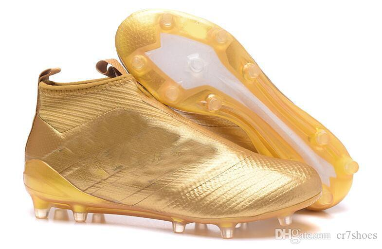 6e6b51f48 Gold Colors Messi Soccer Cleats ACE Tango 17+ Purecontrol Outdoor Soccer  Shoes Mens Soccer Boots Best Qaulity Original Messi Football Boots