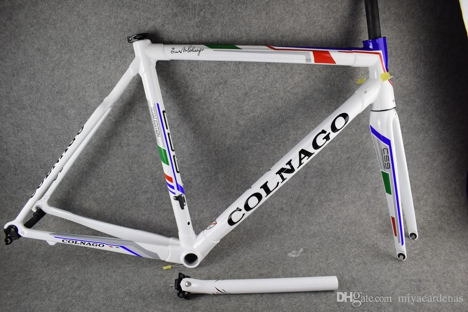 New Colnago C59 Road bike Frame full carbon fiber bicycle Frame+Seatpost+Fork+Clamp+Headset 45/48/50/52/54/56CM