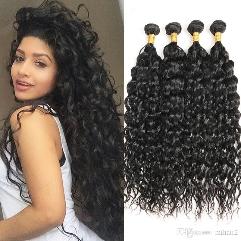 Mongolian Human Hair Italy Curly Wave 4 Bundles 100 Virgin Human