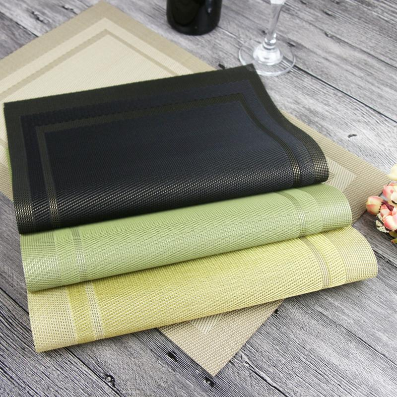 Best Pvc Line Weaving Plastic Placemats For Dining Table Runner Linens  Place Mat In Kitchen Accessories Cup Wine Mat Under $38.77 | Dhgate.Com