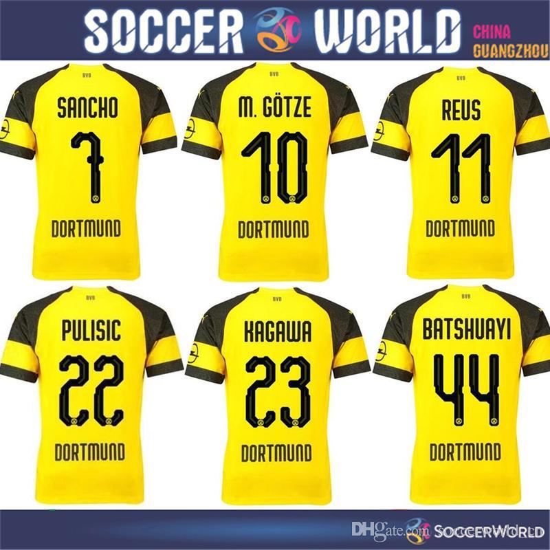 2019 Dortmund Home Soccer Jersey 18 19  11 REUS Soccer Shirt ... 5029f529b