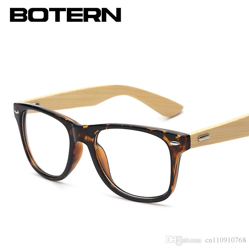 f71d0d6cd0aa High Quality Bamboo Eyeglasses Super Rivet Classic Eyewear Men Women ...