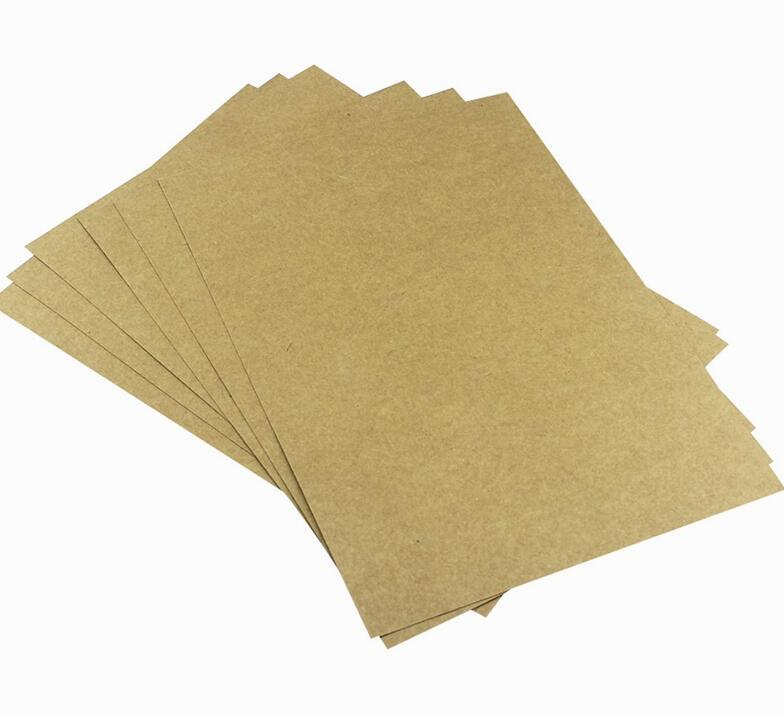 400g A5 Brown Kraft Blank Paper Cardstock Thick Papers Cardboard For ...