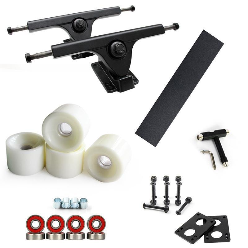 Compre Nuevo 7inch Negro 70   51mm Longboard Wheels Skateboard Trucks  Bridge Combo Set 125mm Grip Tape 6 Mm De Goma Risperad 35 Mm Hardware A   91.55 Del ... 0133600893e