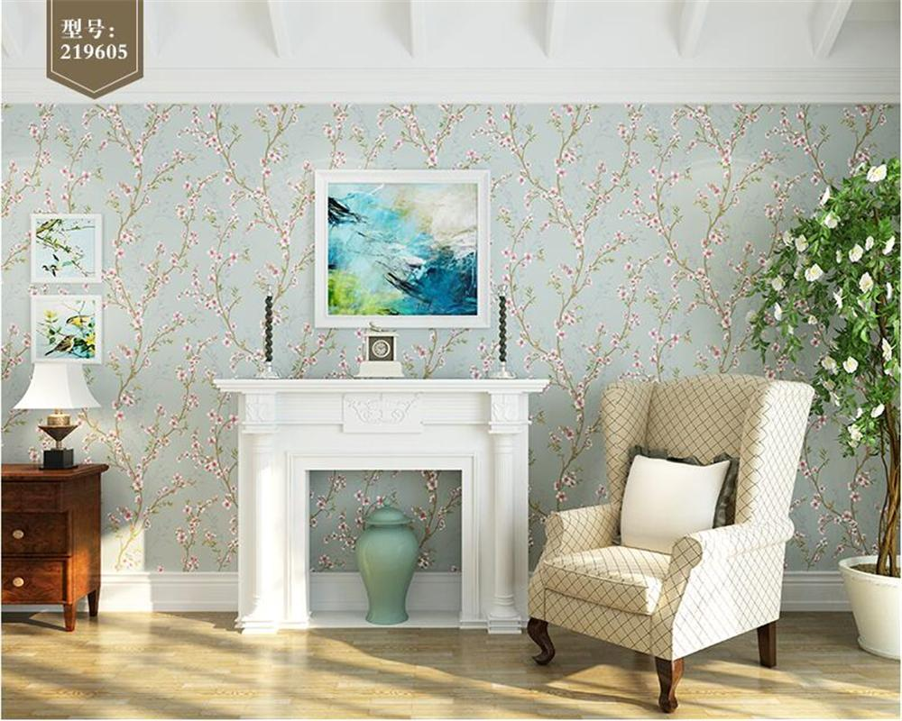 Beibehang Personality Country Wallpaper Bedroom Full House Living Room Sofa Background Nonwoven 3d Pastoral Flower Ha For Pc Halloween