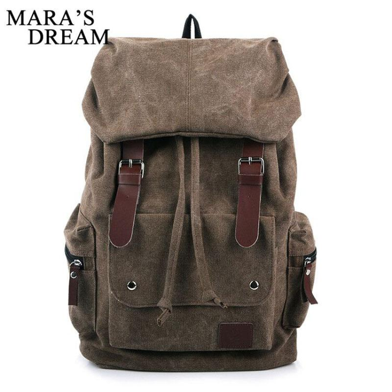 0846c7151161 Mara  S Dream Travel Large Capacity Backpack Male Luggage Shoulder Bag  Computer Backpacking Men Functional Canvas Versatile Bags Laptop Rucksack  Backpacks ...