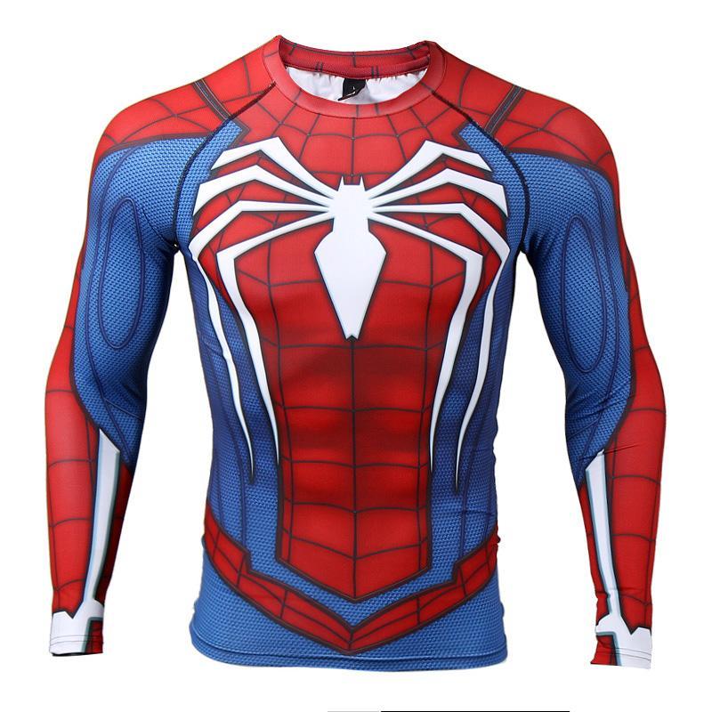 2d43040dbb Compre Raglan Manga Spiderman 3d Impresso T Camisas Dos Homens Camisas De  Compressão 2018 Crossfit Tops De Manga Longa Para O Sexo Masculino De  Fitness ...