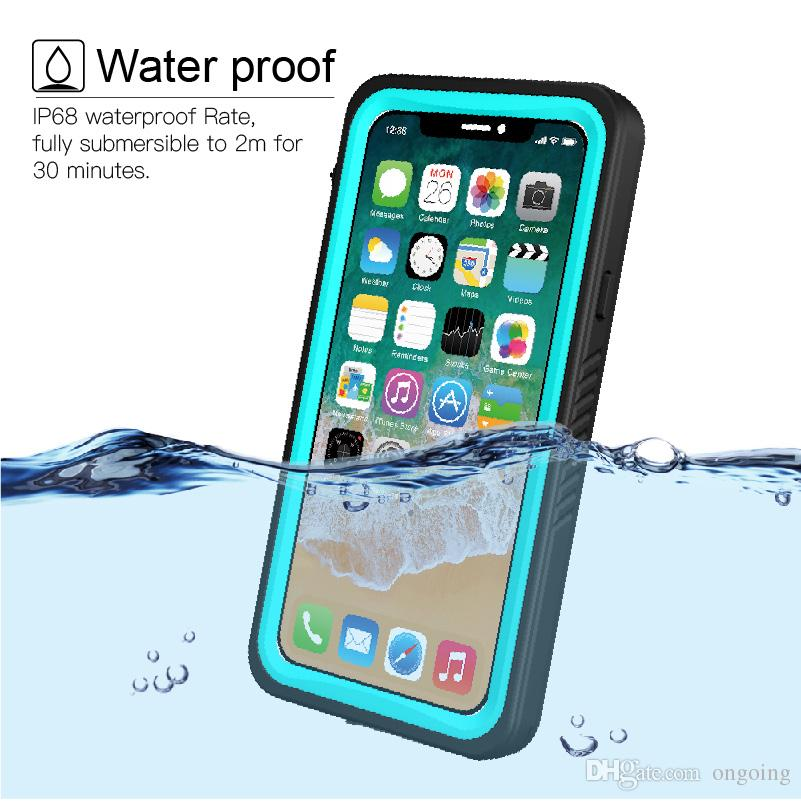info for 0ef77 ad8de 360 Full Protector for Apple iPhone X Case Clear Back & Front Swimming  Phone Cover for iPhonex Coque iPhone X Waterproof case