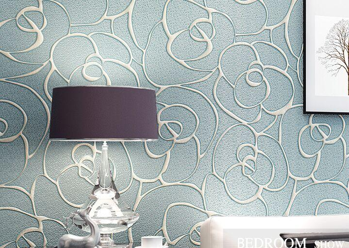 Modern Wallpaper Patterns 3d Stereoscopic Wallpapers Flower Mural Non Woven Floral Wall Paper For Bedroom Living Room Walls Widescreen Download