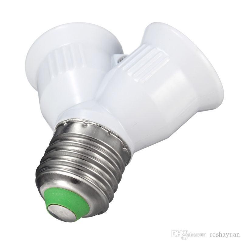 E27에 2 E27 램프베이스 PC 소재 홀더 변환기 소켓 2E27 Y 모양 전구 분배기 어댑터 변환 1A 220V