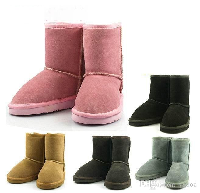 11cb20d3552 2018 will sell the new real Australian WGG5821 high quality kids boy girl  children baby warm snow boots juvenile student snow winter boot
