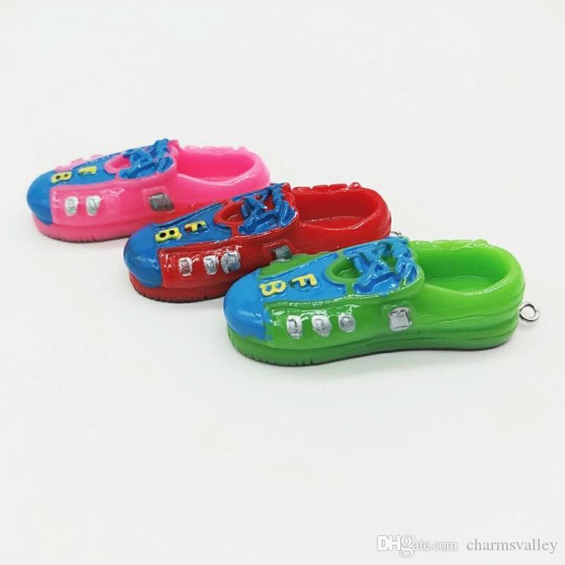 5 pezzi 3D simulazione sneaker portachiavi bambini scarpe sportive portachiavi anello portachiavi favori accessorio gioielli borsa auto del partito