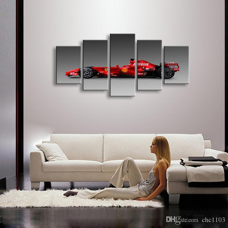 high-definition print sports car canvas oil painting poster and wall art living room picture C5-41