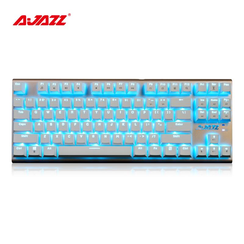 Ajazz Ak40 87 Keys Wired Mechanical Keyboards Full Button Suspension ...