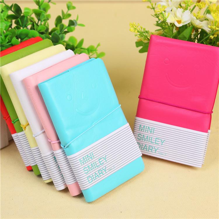 2019 Mini Smiley Diary Candy Color Small Notebook As Mini Memo Pads