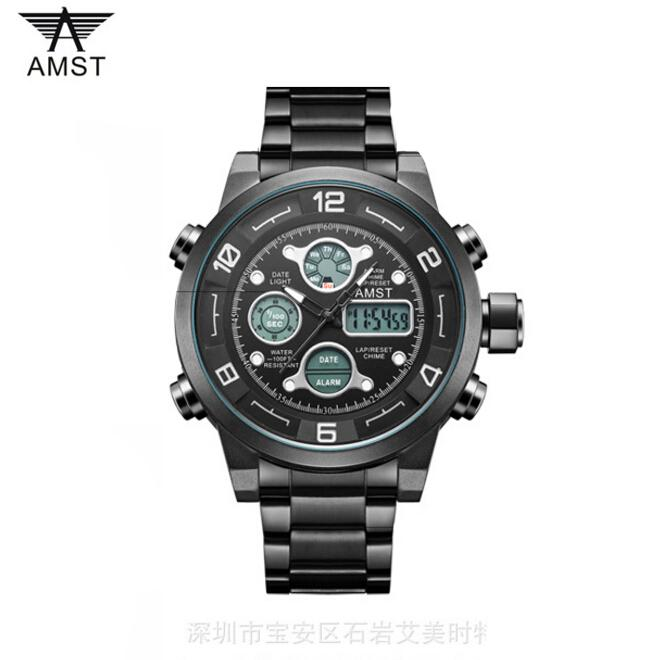 b368e5bb3 15 colors AMST Top brand sports Men Watch Multifunction Men's Outdoor  Mountaineer Watches Dual Display Wristwatches AM3020