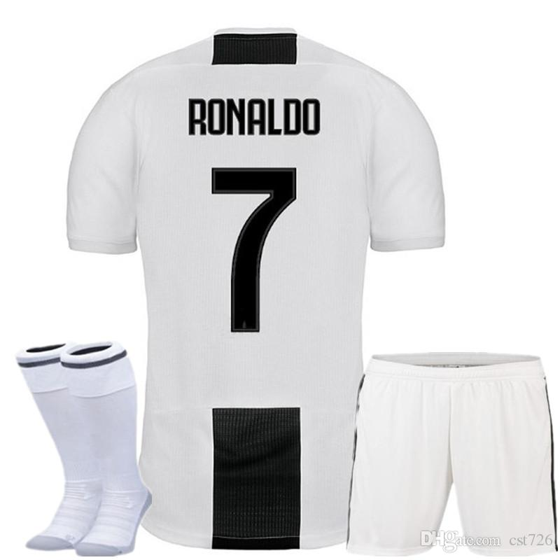 new styles 1b0d4 5d85a Serie A Ronaldo Juventus soccer jersey kids kit+socks Federico Bernardeschi  DYBALA PJANIC MATUIDI Douglas Costa mandzukic