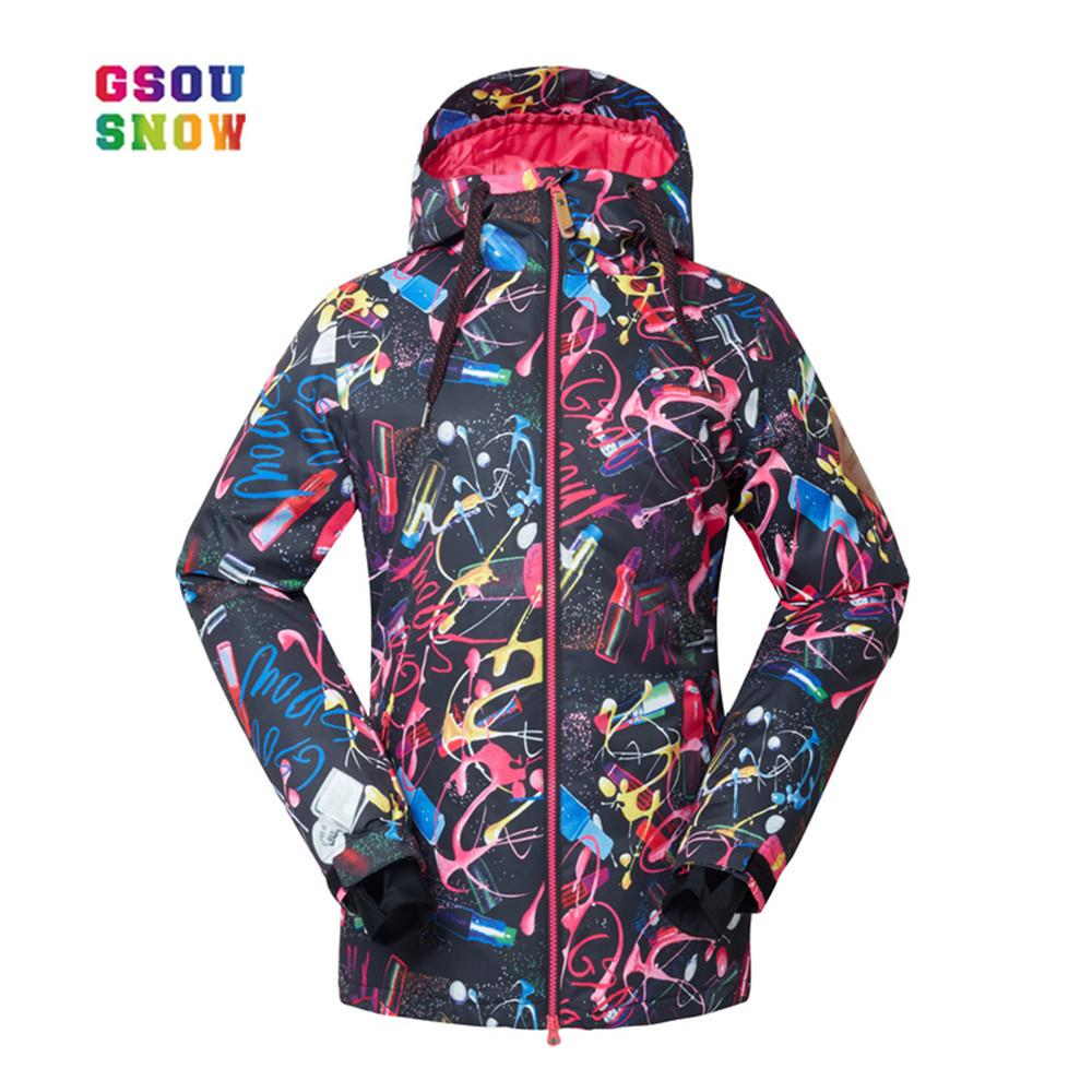 a8e363e4c7 GSOU SNOW New Ski Jackets Female Winter Style Ladies Professional Snowboard  Jacket Warmth Thicken Waterproof Breathable Cotton UK 2019 From Yerunku