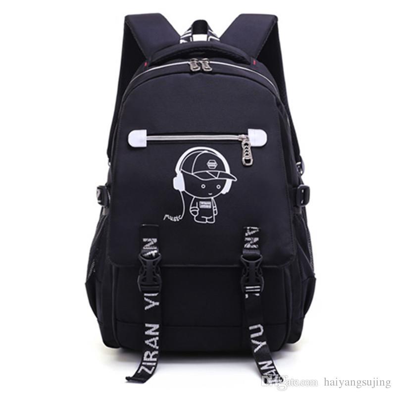 716c7a4baf Noctilucent Backpack New Casual Travel Unisex Laptop Designer Student Big Children  School Bag Waterproof Security Leisure Bags Handbag Outdoor Bag Schoolbag  ...