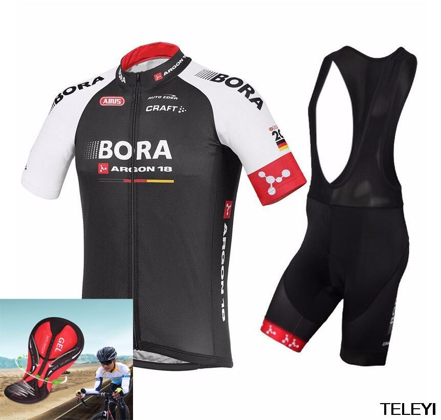 1166f847e72 Hot 2018 BORA ARGON 18 TEAM Ropa Ciclismo Short Sleeve Cycling Jersey Bike  Bicycle Summer Style Mtb Cycling Clothing Men Jersey Sets Cycling Uniforms  Best ...