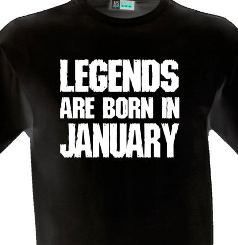 Legends Are Born In January Shirt Tee Gift Present Birthday Month Birth Year Geek T Shirts Mens Formal From Lifeiscrap 1101