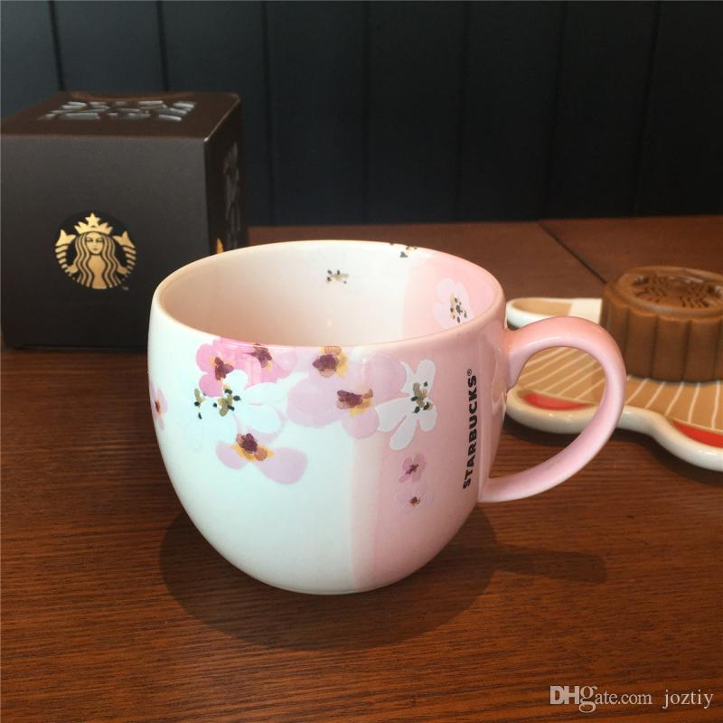 Authentic 2017 Starbucks Japanese Cherry Blossoms Mug Pink