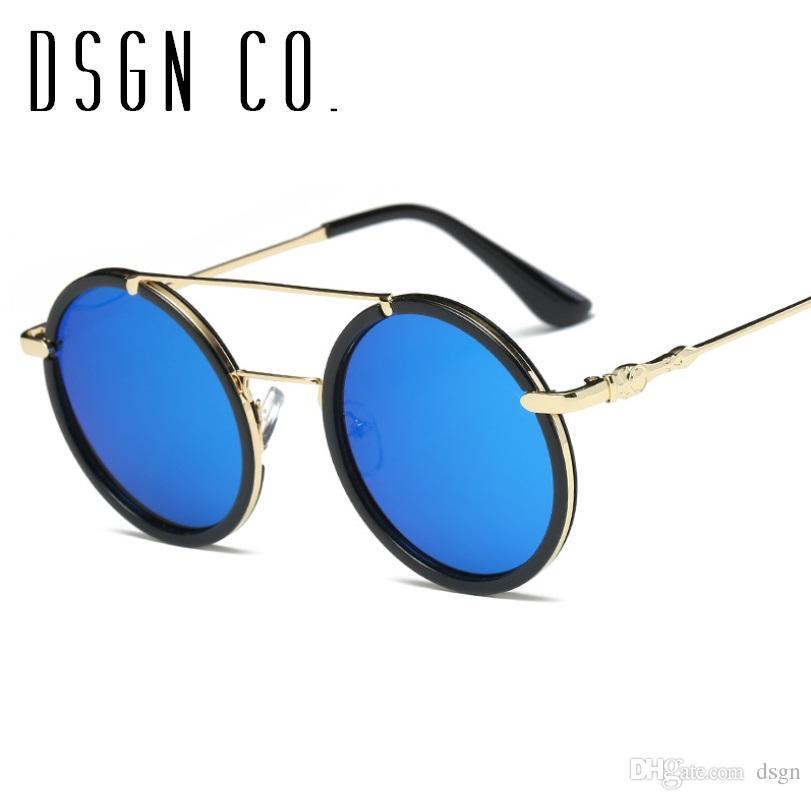 b8d38976a73 2018 Stylish Designer Steampunk Sunglasses For Men And Women Vintage Brand  Round Sunglasses UV400 Oversized Sunglasses Best Sunglasses For Men From  Dsgn