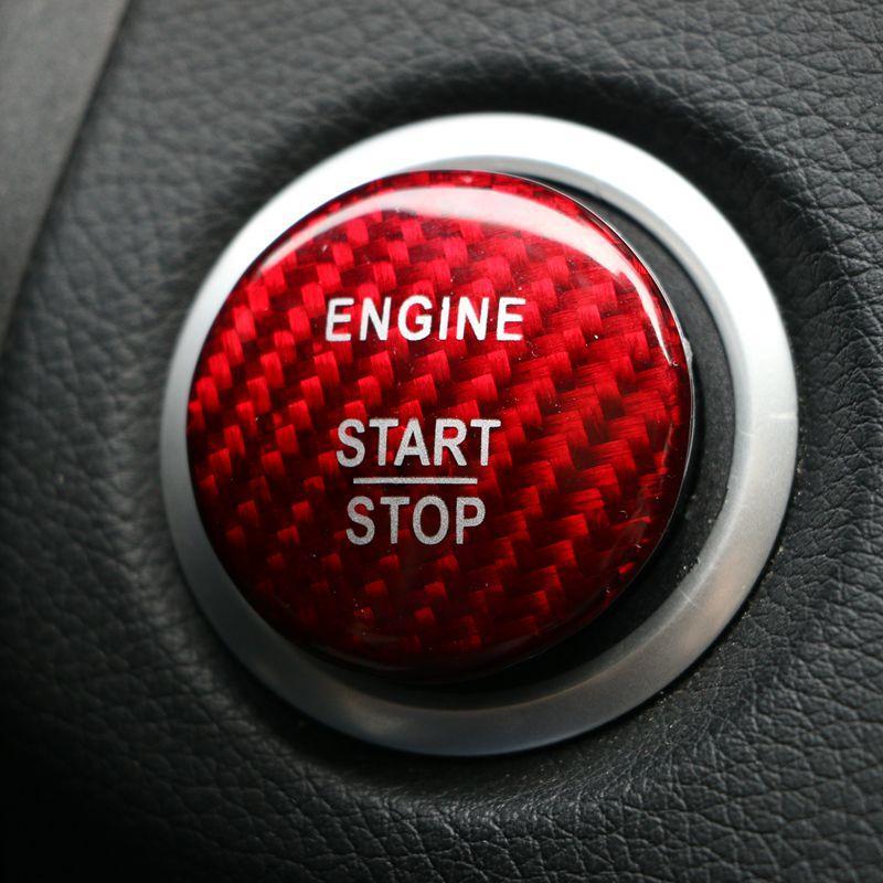 2019 carbon fiber start stop engine button cover sticker. Black Bedroom Furniture Sets. Home Design Ideas