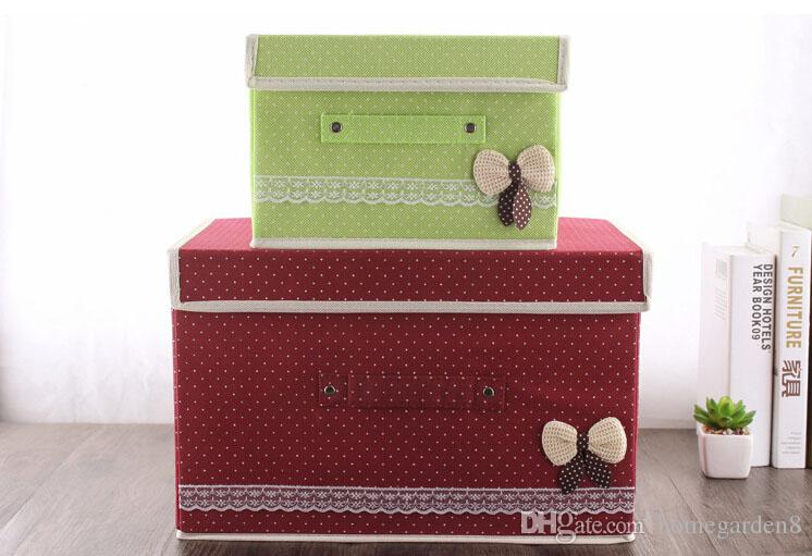 Covered non-woven finishing storage box buckle buckle folding furniture storage box clothing storage box