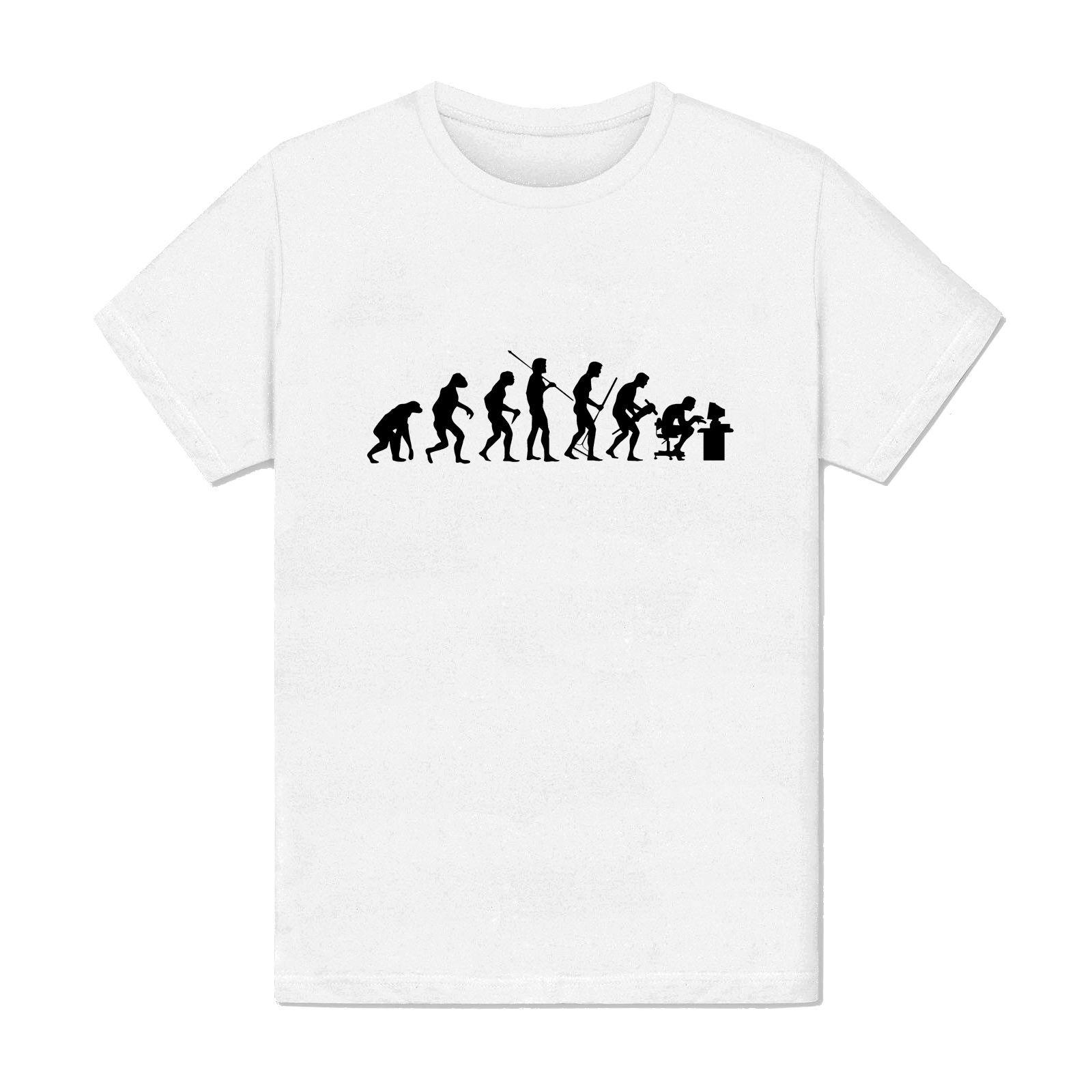 Grosshandel T Shirt Manner Weiss Evolutionary Computer Science