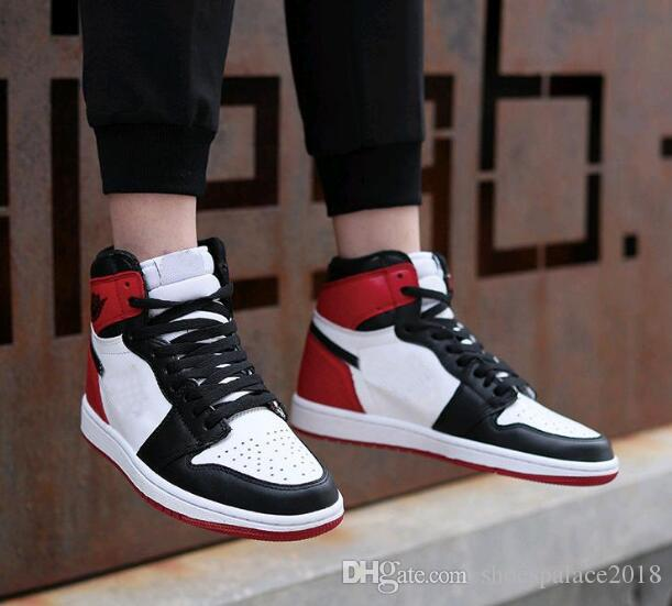 2018 1 S Chicago White Red 1s High Cut Basketball Shoes Sneakers For