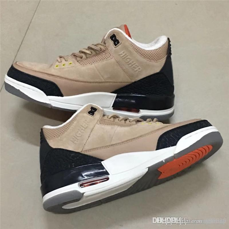 36e56e0ac8a3e1 2019 2018 New JTH 3 Bio Beige 3s HIGHER Suede Basketball Shoes For Man  Limited Sports Sneakers With Box Authentic FAME IS A LIE STRESS IS CRUEL  From ...