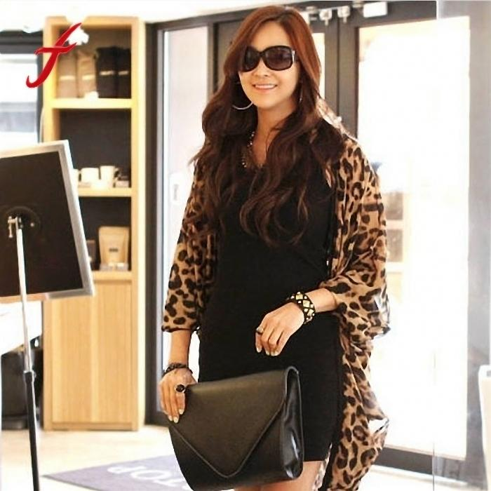 5a3fc61f0f 2017 Summer Women Cardigan Chiffon Leopard Print Half Sleeve Shawl Girls  Ladies Sexy Tops Free Size Best Selling Casual Jacket Lightweight Jacket  From ...