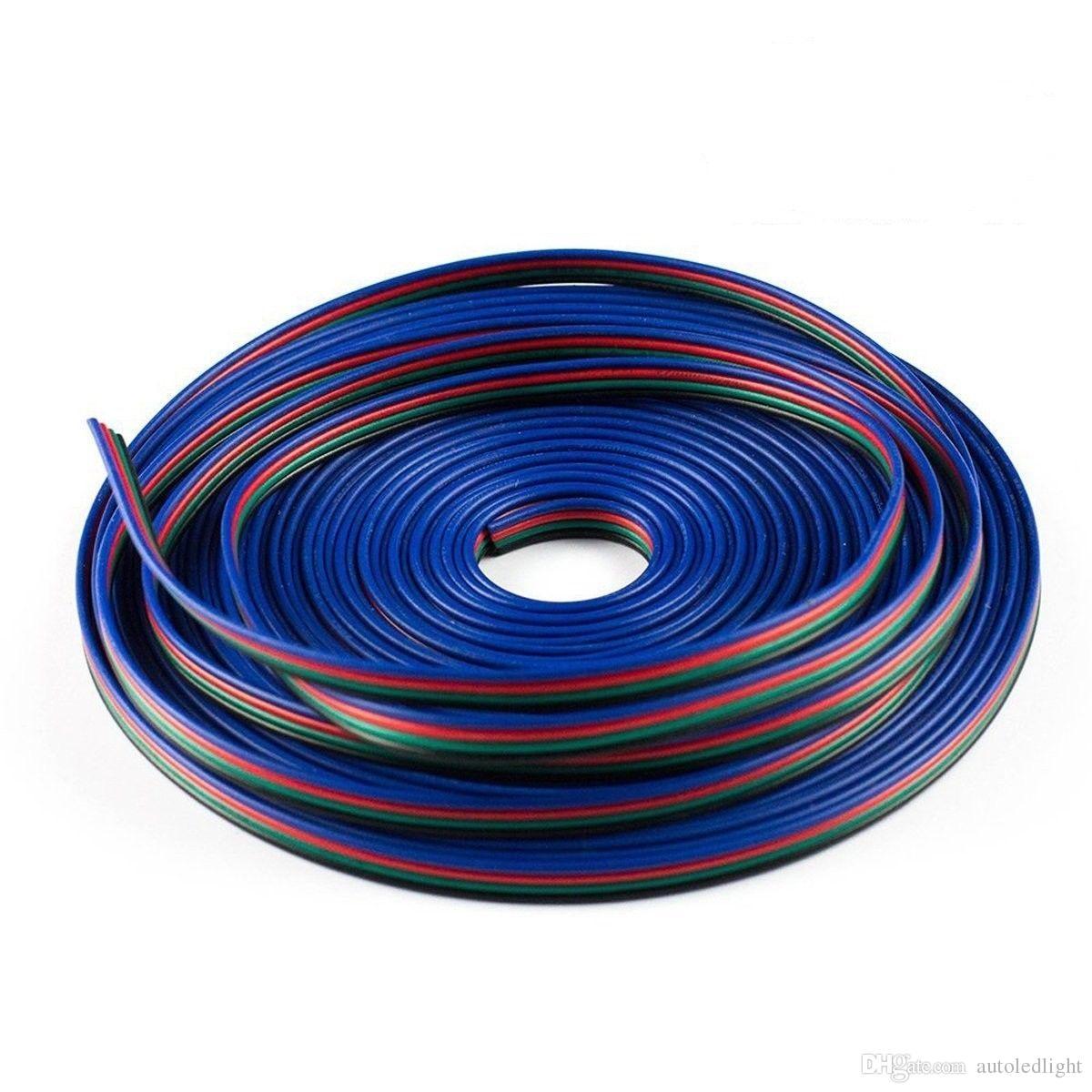 Corde de câble de connecteur de fil d'extension RVB 4 broches pour la longueur de la bande LED de DIY DIY de 3528 5050