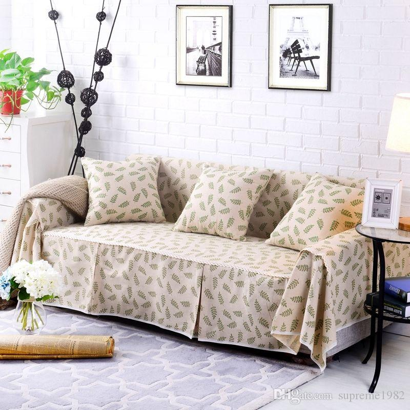 Floral Cotton Linen Slipcover Sofa Cover OUKl Protector for 1 2 3 4 seater  lyxy