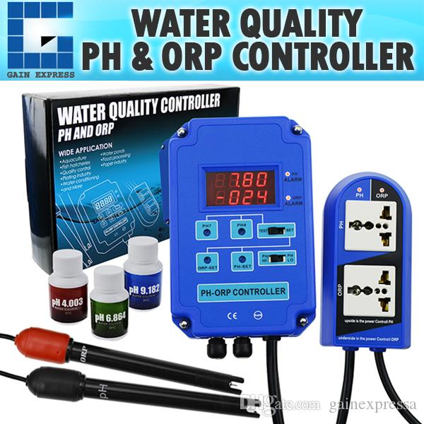 Digital pH ORP Redox 2 in 1 Controller Monitor w/ Output Power Relay  Control, Electrode Probe BNC, Water Quality Meter