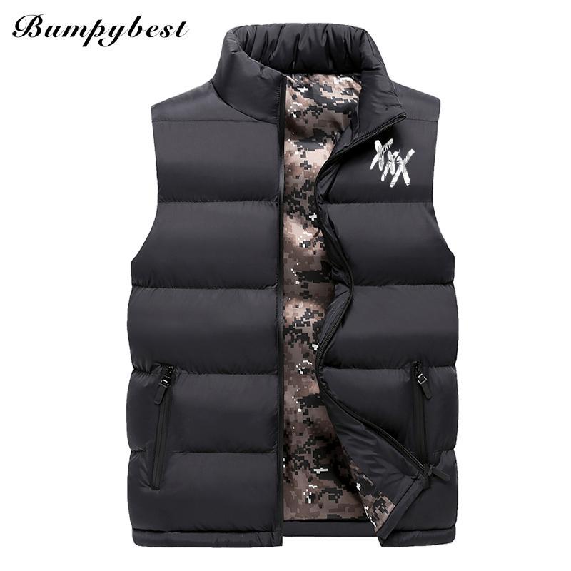 Bumpybeast Mode Sleeveless XXXTentacion Jacke 2018 Männer Verdickung Baumwolle Weste Warme Weste Winter Weste Männer Windjacke 8XL