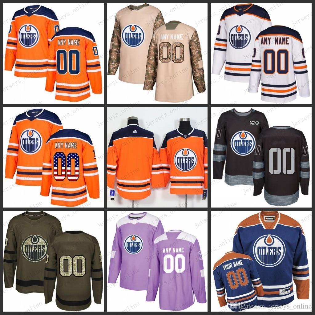 hot sale online 5848a 12938 Custom blue Mens Women Youth Edmonton Oilers 27 Milan Lucic 29 Draisaitl  Edmonton 33 Cam Talbot 97 Connor McDavid 99 Gretzky hockey Jerseys