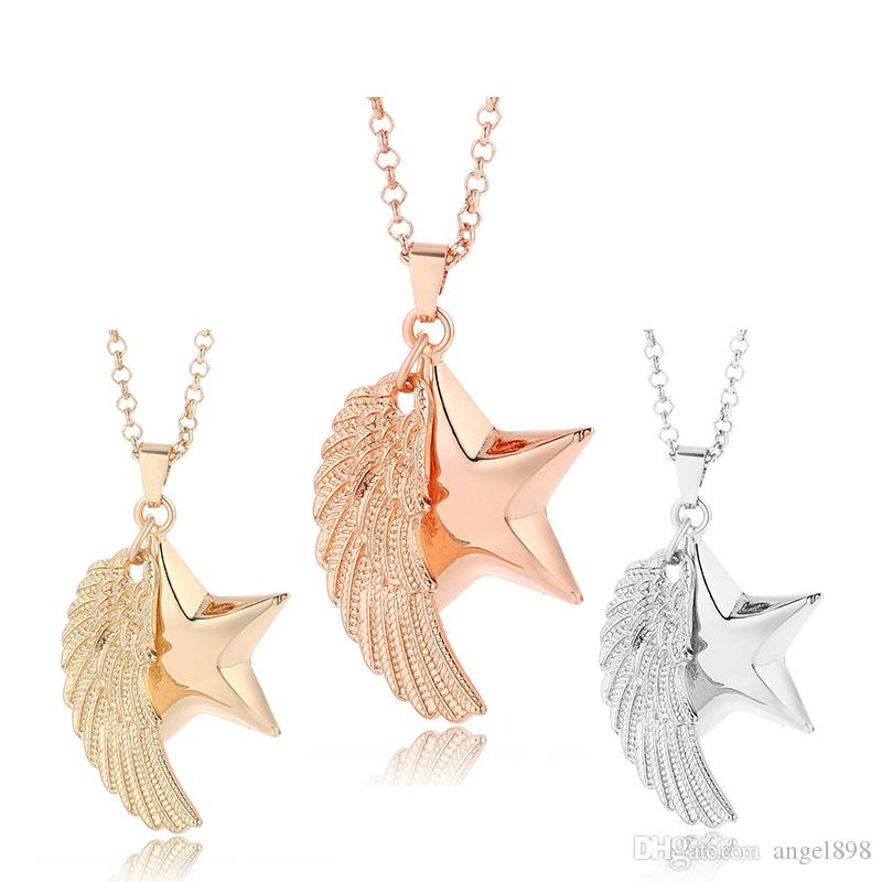Wholesale long chain necklace 28mm star shape pendant sound music wholesale long chain necklace 28mm star shape pendant sound music angel bola ball jewelry for women pendant necklaces pearl necklace necklace from angel898 aloadofball Image collections