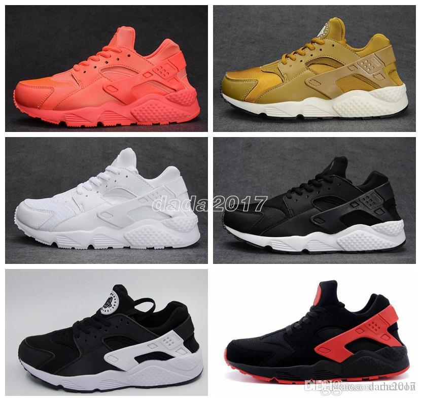 new arrival 9f1a3 91fe3 Newest Air Huarache I Running Shoes For Men Women,Green White Black Rose  Gold Sneakers Triple Huaraches 1 Trainers Huraches Sports Shoes Good Running  Shoes ...