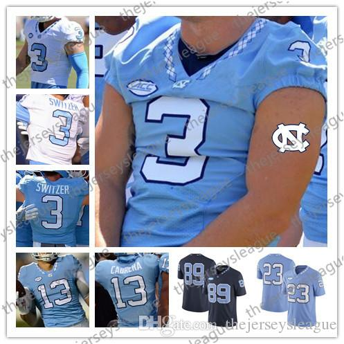 fc63641b7 2019 North Carolina Tar Heels #3 Ryan Switzer 8 Michael Carter 42 Robert  Quinn Blue White Good Quality Stitched NCAA College Football Jerseys From  ...