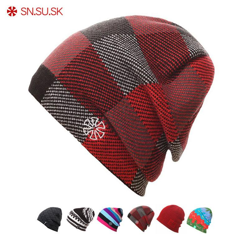 5678615c148 SK 2018 Warm Winter Hat Knitted Beanies Hiking Hats For Men Women Sport Caps  Skullies Gorros Bonnet Beanie Cap Hiking Caps Cheap Hiking Caps SN.SU.