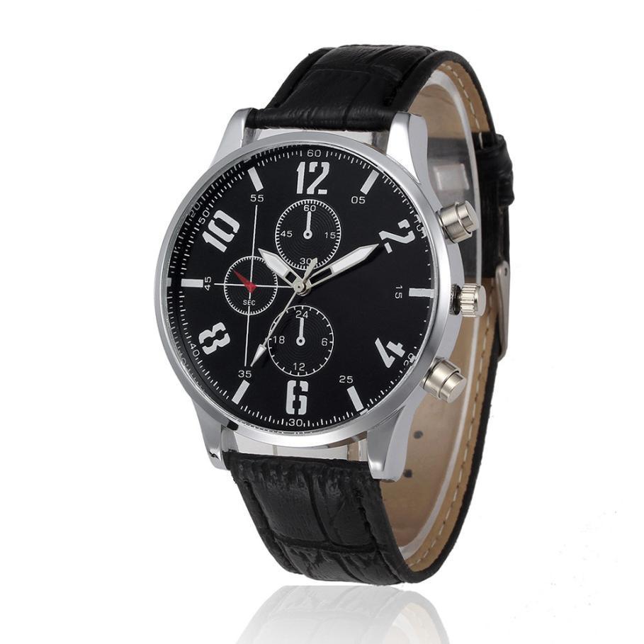 3dc13b50d543 Compre Reloj De Los Hombres Relojes De Lujo De La Marca De Cuarzo Diseño  Retro Cinturones De Cuero De Moda Reloj De Los Deportes Baratos Relogio  Masculino ...