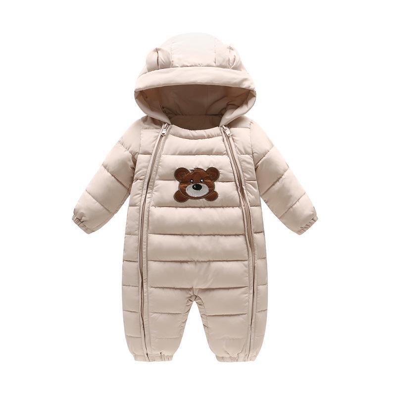 Conception innovante 36be8 bbc63 Baby Winter Rompers Épais Garçons Filles Chaud Infant Ours Snowsuit Kid  Combinaison Enfants Survêtement De Bébé 6 mois-18 mois
